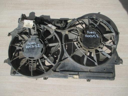 вентилятор радиатора, диффузор ford focus 1 ( форд фокус ) 2003г ( можно по отдельности )